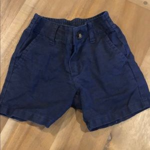 Janie and Jack linen navy shorts